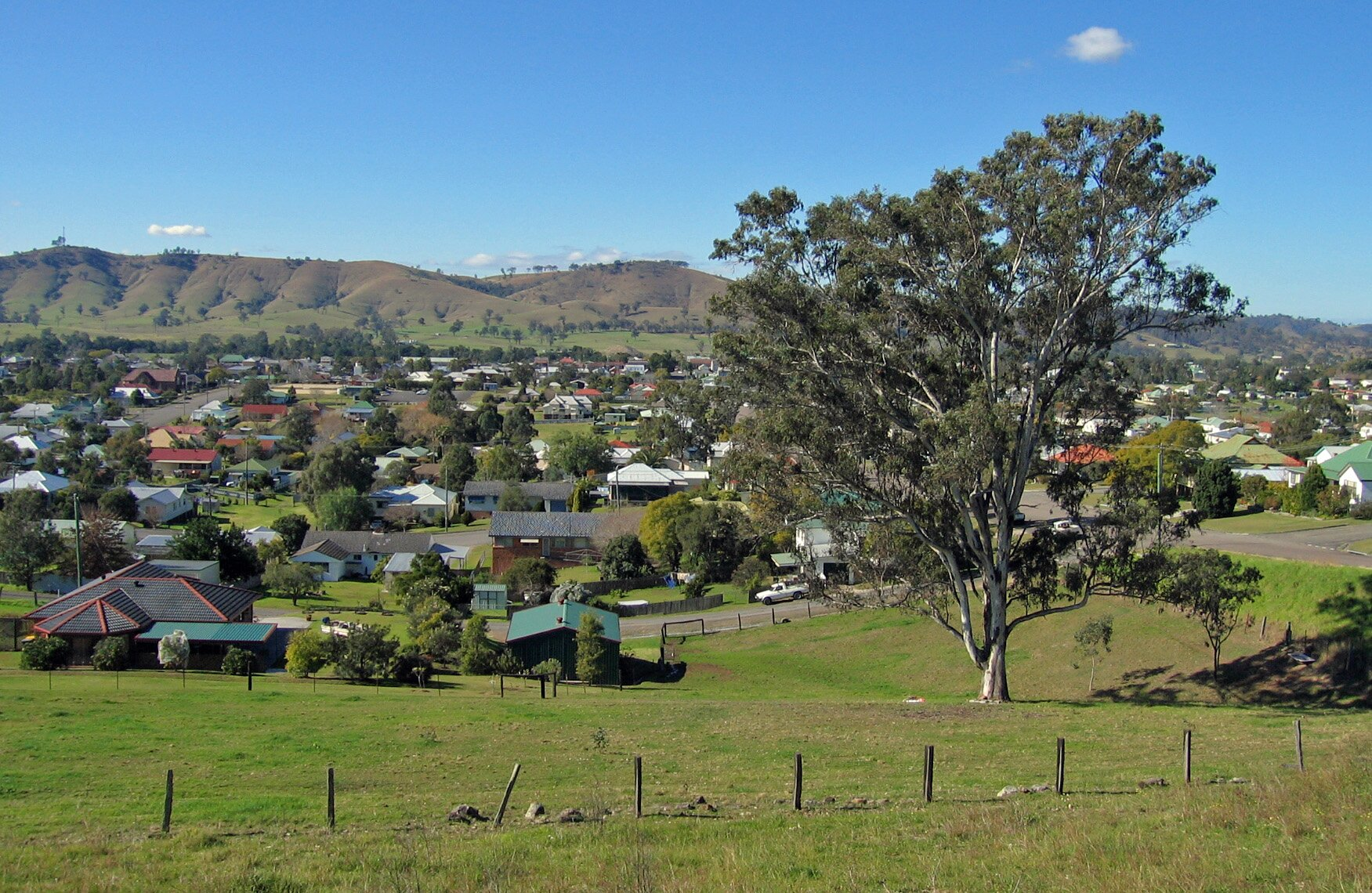 View Of Dungog From Hospital Road